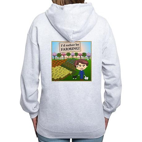 Rather Be Farming Women's Zip Hoodie