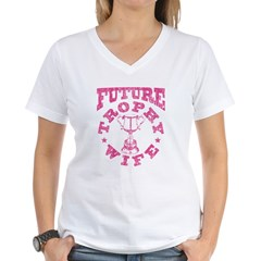 Future Trophy Wife Women's V-Neck T-Shirt