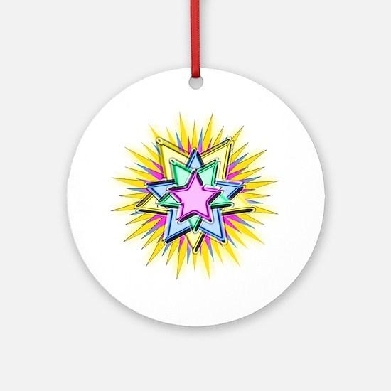 Christmas Star Ornament (Round)