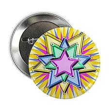 "Christmas Star 2.25"" Button"