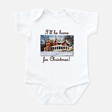 I'll be home for Christmas! Infant Bodysuit