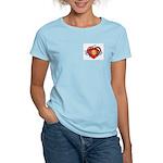 Women's Light Barb Wire Heart T-Shirt
