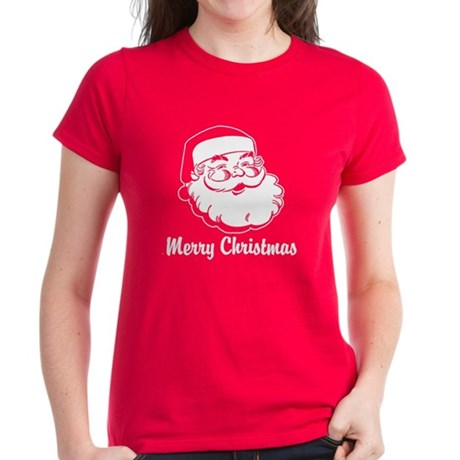 Merry Christmas Santa Claus Women's Dark T-Shirt