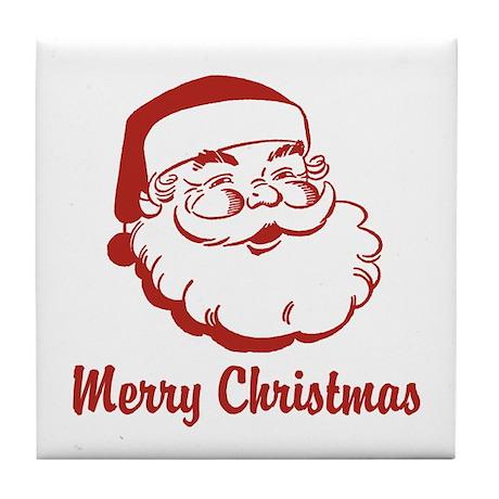 Merry Christmas Santa Claus Tile Coaster