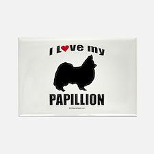 I Love my Papillion ~ Rectangle Magnet