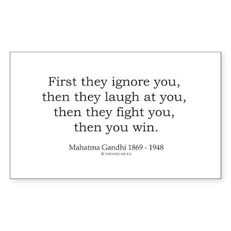 Mahatma Gandhi 9 Rectangle Sticker