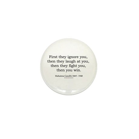 Mahatma Gandhi 9 Mini Button (10 pack)