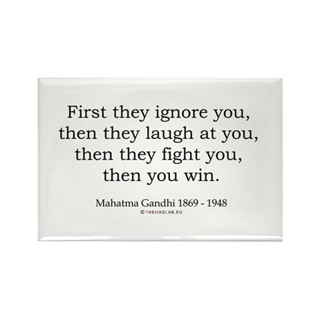Mahatma Gandhi 9 Rectangle Magnet