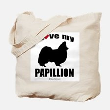 I Love my Papillion ~  Tote Bag