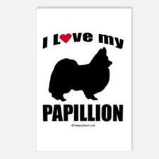 I Love my Papillion ~  Postcards (Package of 8)