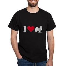I Love my Papillion ~  Black T-Shirt