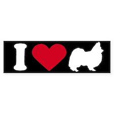 I Love my Papillion ~ Bumper Bumper Sticker