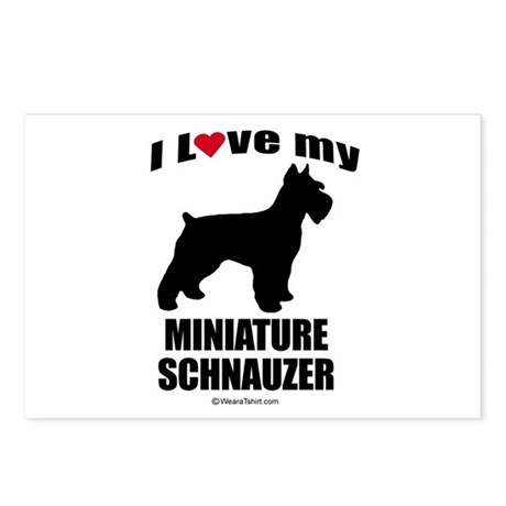 I Love my Schnauzer ~ Postcards (Package of 8)