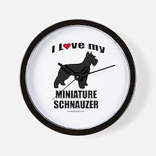 I Love my Schnauzer ~  Wall Clock