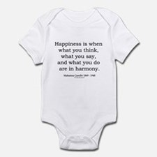 Mahatma Gandhi 10 Infant Bodysuit