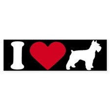 I Love my Schnauzer ~ Bumper Bumper Sticker