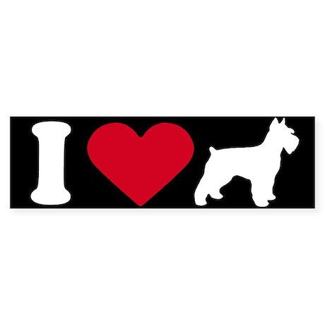 I Love my Schnauzer ~ Bumper Sticker