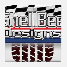 ShellBee Designs Our Logo Tile Coaster
