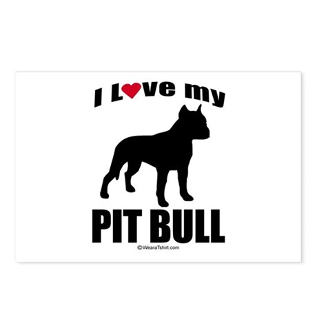 I Love my Pit Bull ~ Postcards (Package of 8)