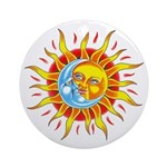 Sun & Moon Ornament (Round Not Clear)