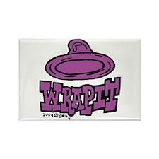 Condom Wrap It (left) Rectangle Magnet (10 pack)