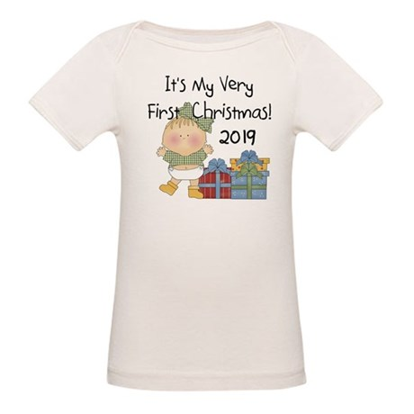 Girl First Christmas 2016 Organic Baby T-Shirt