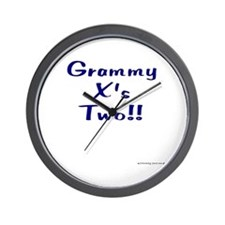 Grammy X's Two Wall Clock
