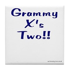 Grammy X's Two Tile Coaster