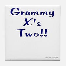 Grammy X's Two Tile Coaster