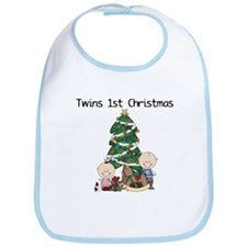 Twins First Christmas Bib