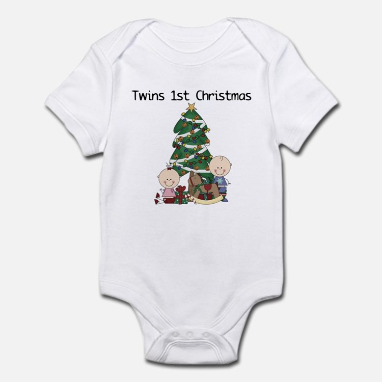 Twins First Christmas Infant Bodysuit