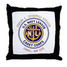 Navy League Color - CCC Divis Throw Pillow