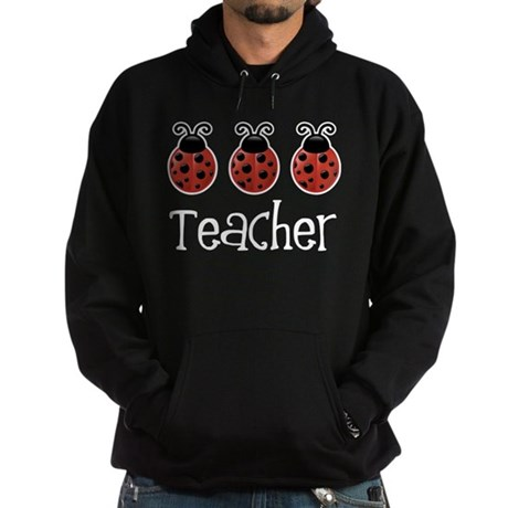 Ladybug Teacher Hoodie (dark)
