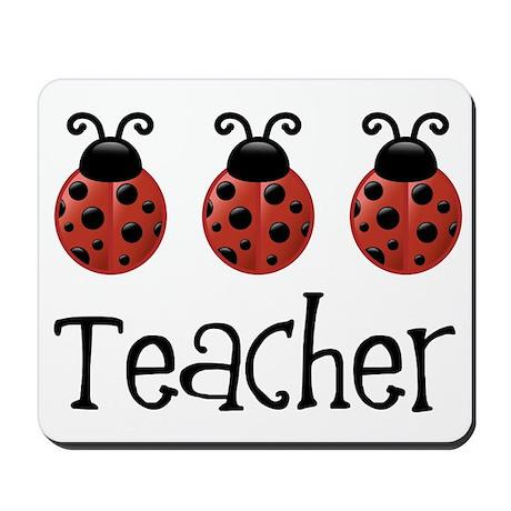 Ladybug Teacher Mousepad