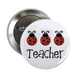 "Ladybug Teacher 2.25"" Button (10 pack)"
