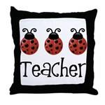 Ladybug Teacher Throw Pillow