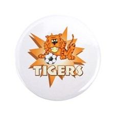 """Tigers Soccer 3.5"""" Button (100 pack)"""