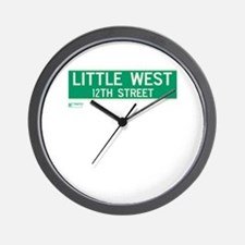 Little West 12th Street in NY Wall Clock