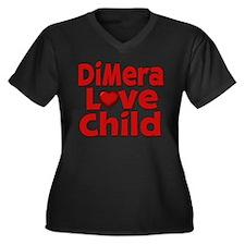 DiMera Love Child Women's Plus Size V-Neck Dark T-