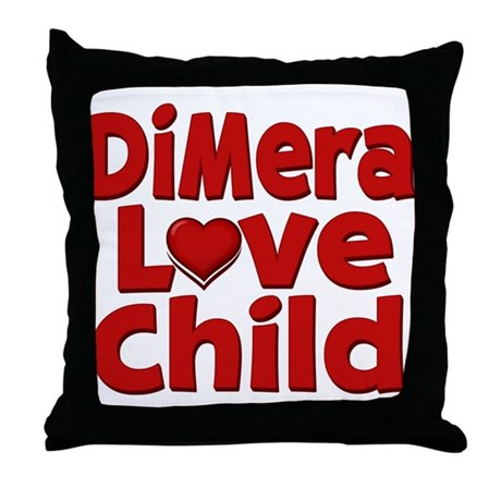 DiMera Love Child Throw Pillow
