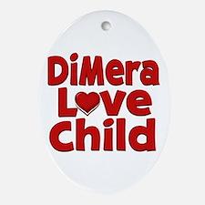 DiMera Love Child Oval Ornament