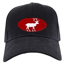 Red And White Reindeer Motif Baseball Hat