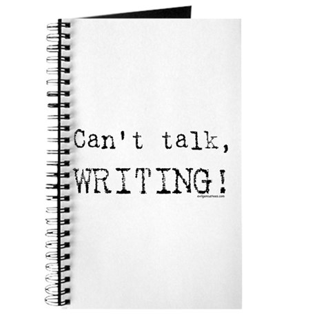 Can't talk, writing Journal
