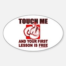 BOXING GLOVES Oval Decal