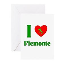 I Love Piemonte Italy Greeting Cards (Pk of 10