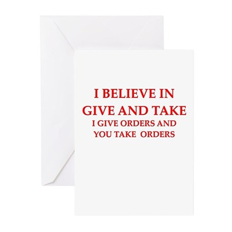 military humor Greeting Cards (Pk of 20)