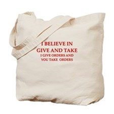 military humor Tote Bag