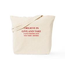military humor Tote Bag
