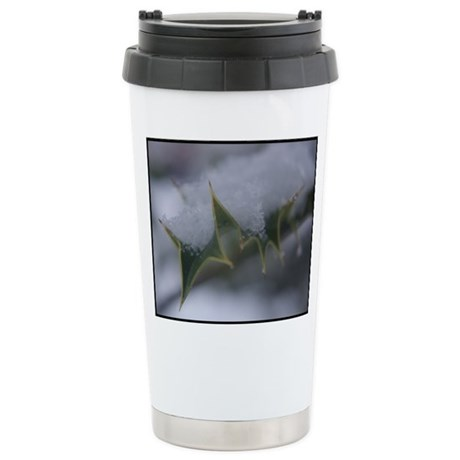 Snow holly Stainless Steel Travel Mug