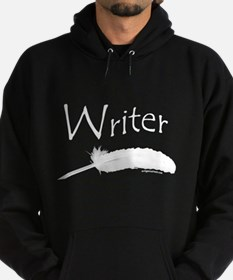 Writer with quill pen Hoodie (dark)